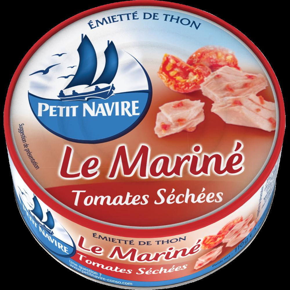 Thon le mariné aux tomates séchées, Petit Navire (110 g)