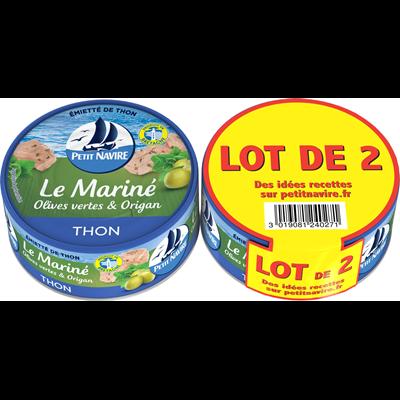 Thon Le mariné olives vertes & origan, Petit Navire LOT DE 2 (2 x 110 g)