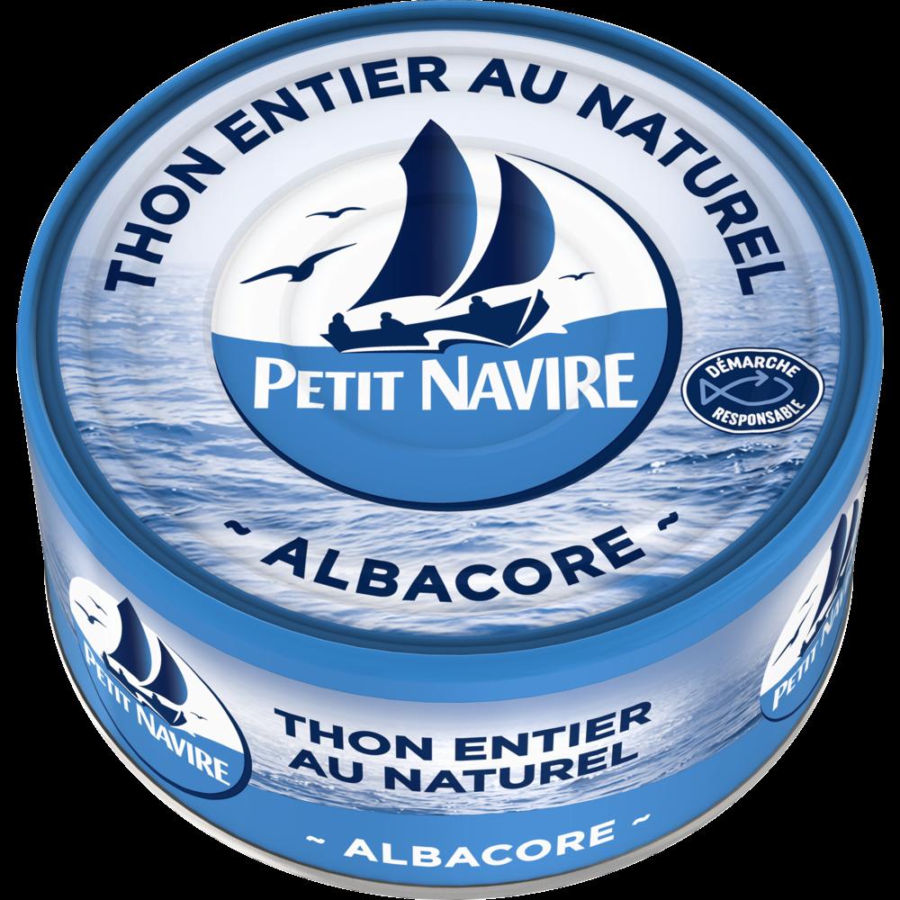 Thon albacore au naturel démarche responsable, Petit Navire (185 g)