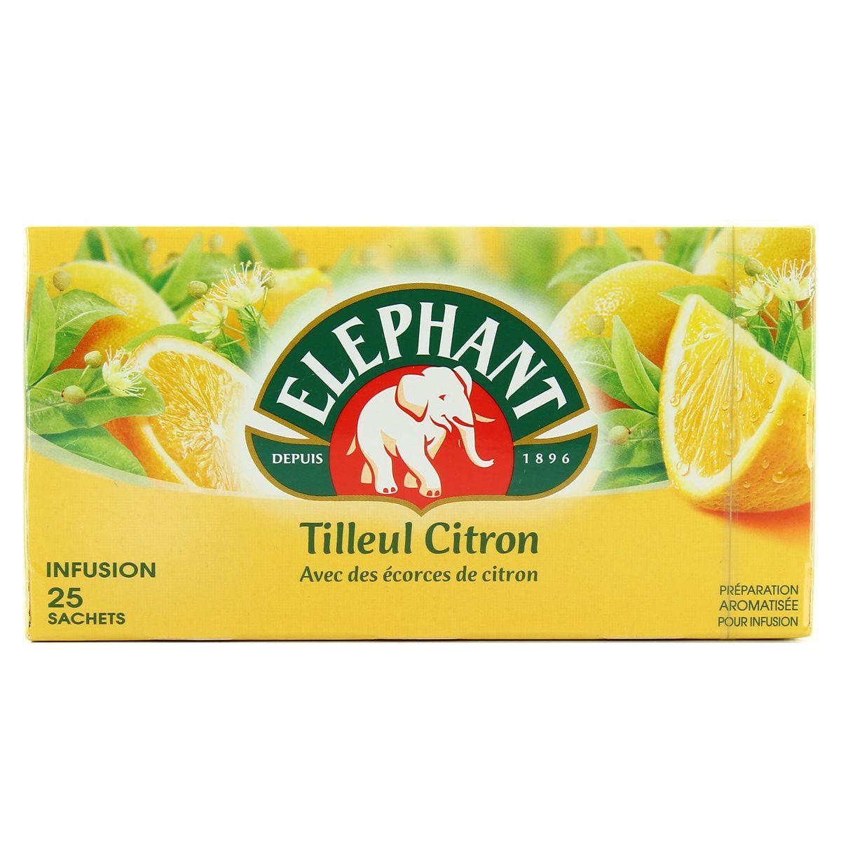 Infusion tilleul citron, Elephant (25 sachets)