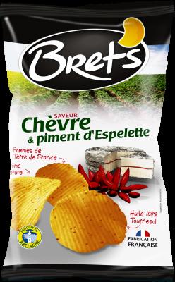 Pack de 6 - Chips chèvre et piment d'Espelette, Brets (6 x 125 g)