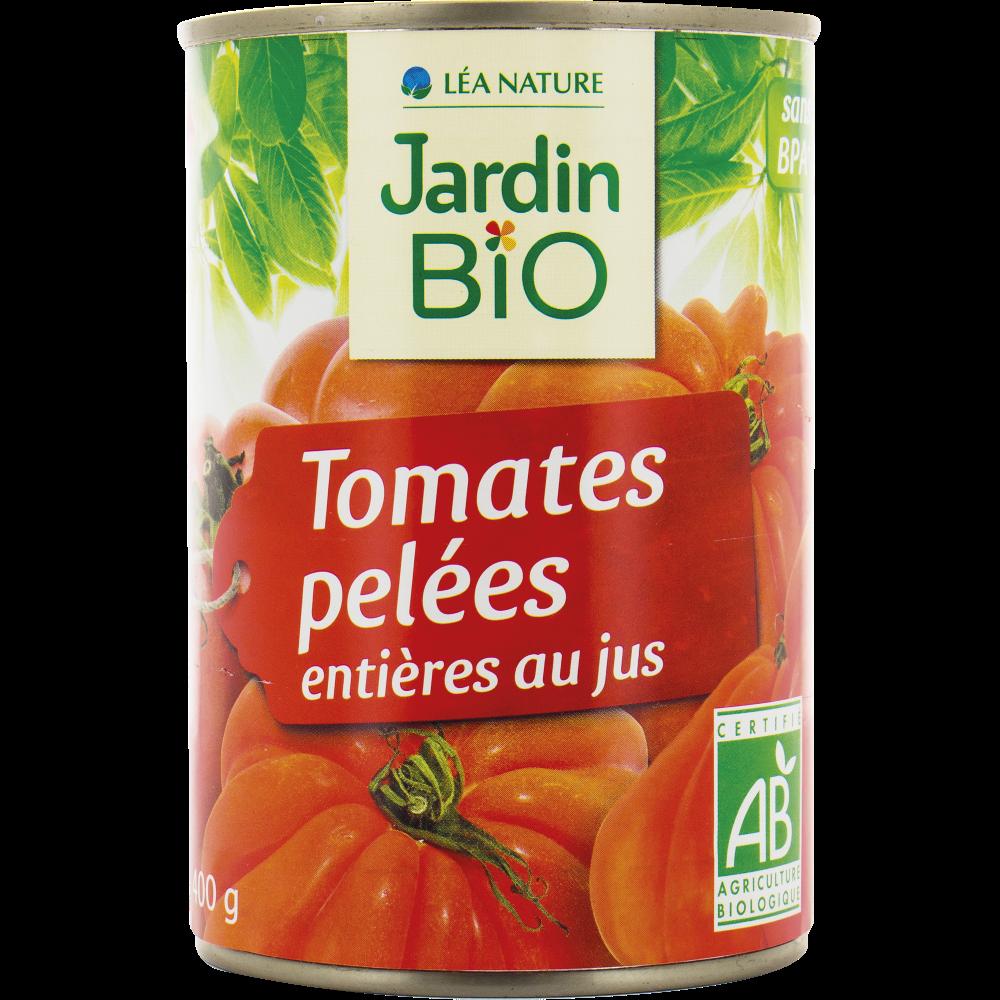 Tomates pelées entières au jus BIO, Jardin Bio (240 g)