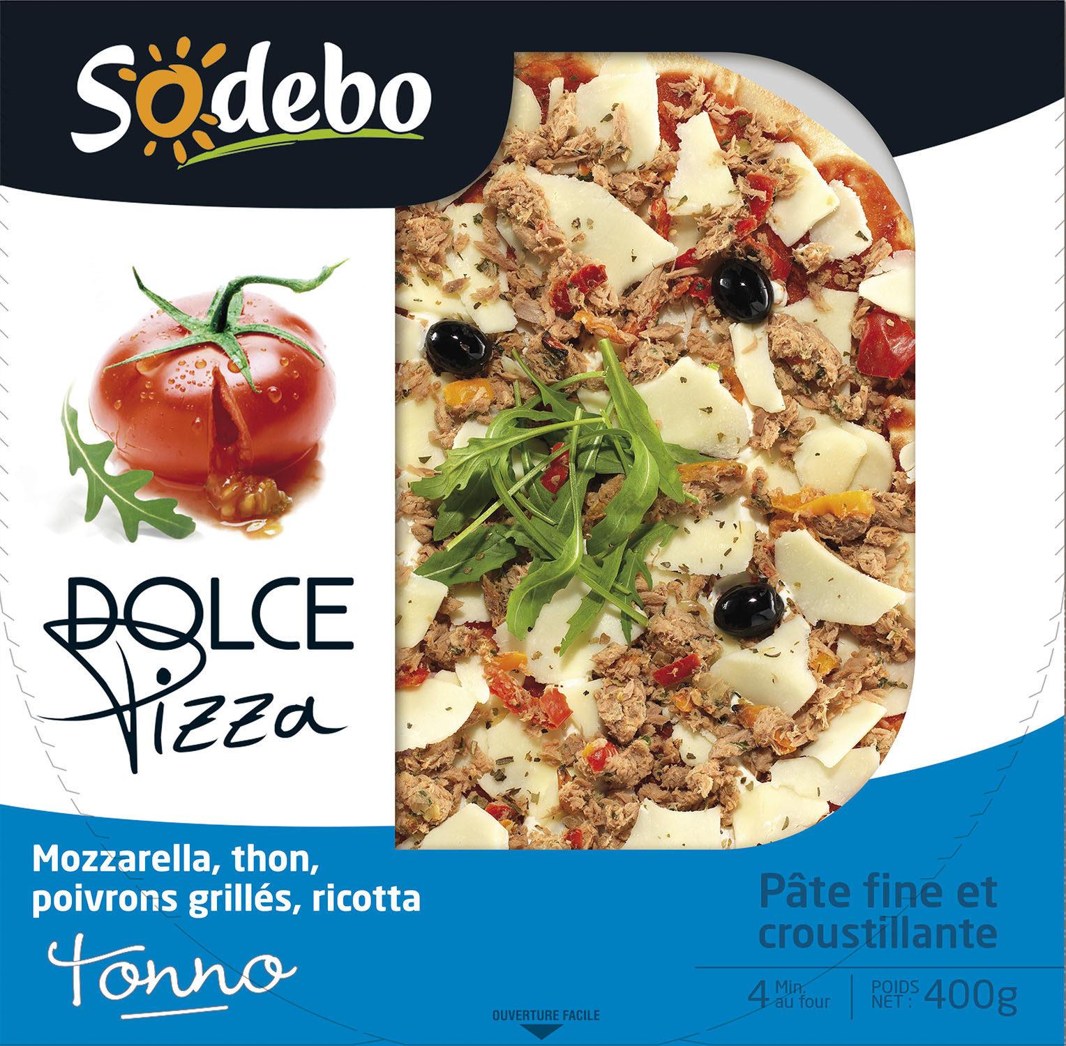 """Pizza """"Dolce"""" Tonno, Sodebo (400 g)"""