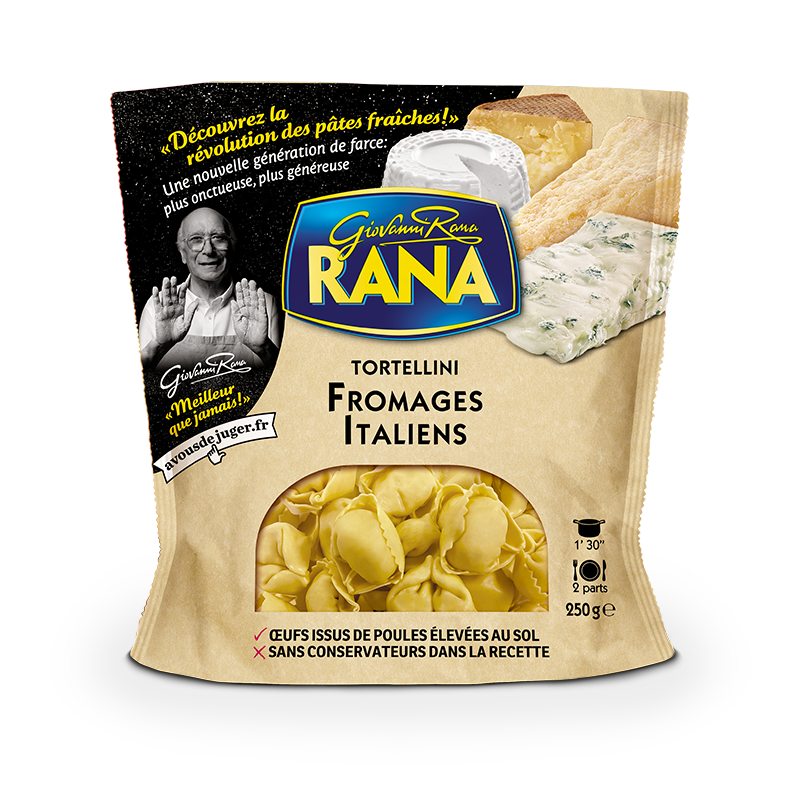 Tortellini 4 fromages italiens, Giovanni Rana (250 g)