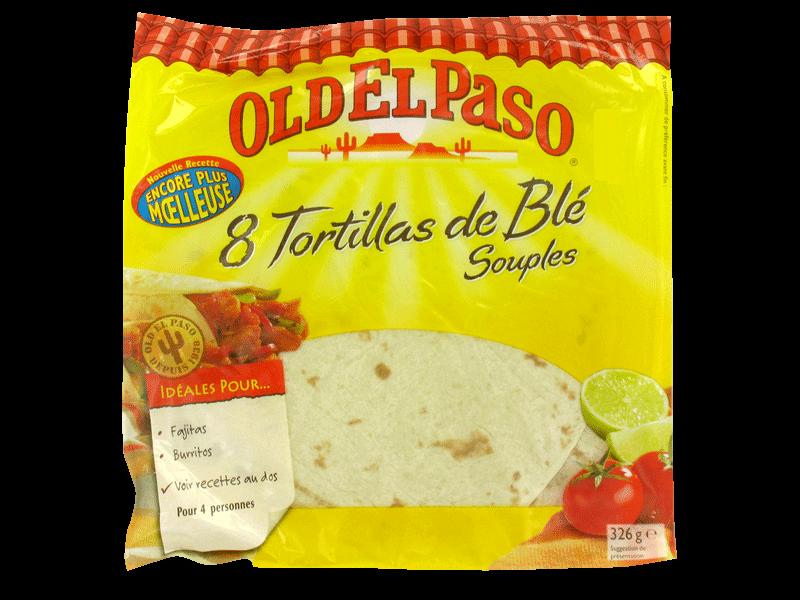 Tortilla de blé souple Old El Paso (x 8, 326 g)