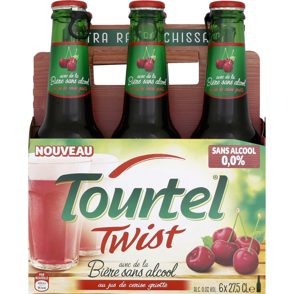 Pack de Tourtel Twist Cerise, 0° (6 x 27.5 cl)