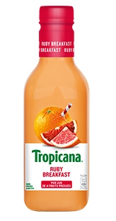 Jus ruby breakfast pamplemousse rose/orange frais, Tropicana (900 ml)