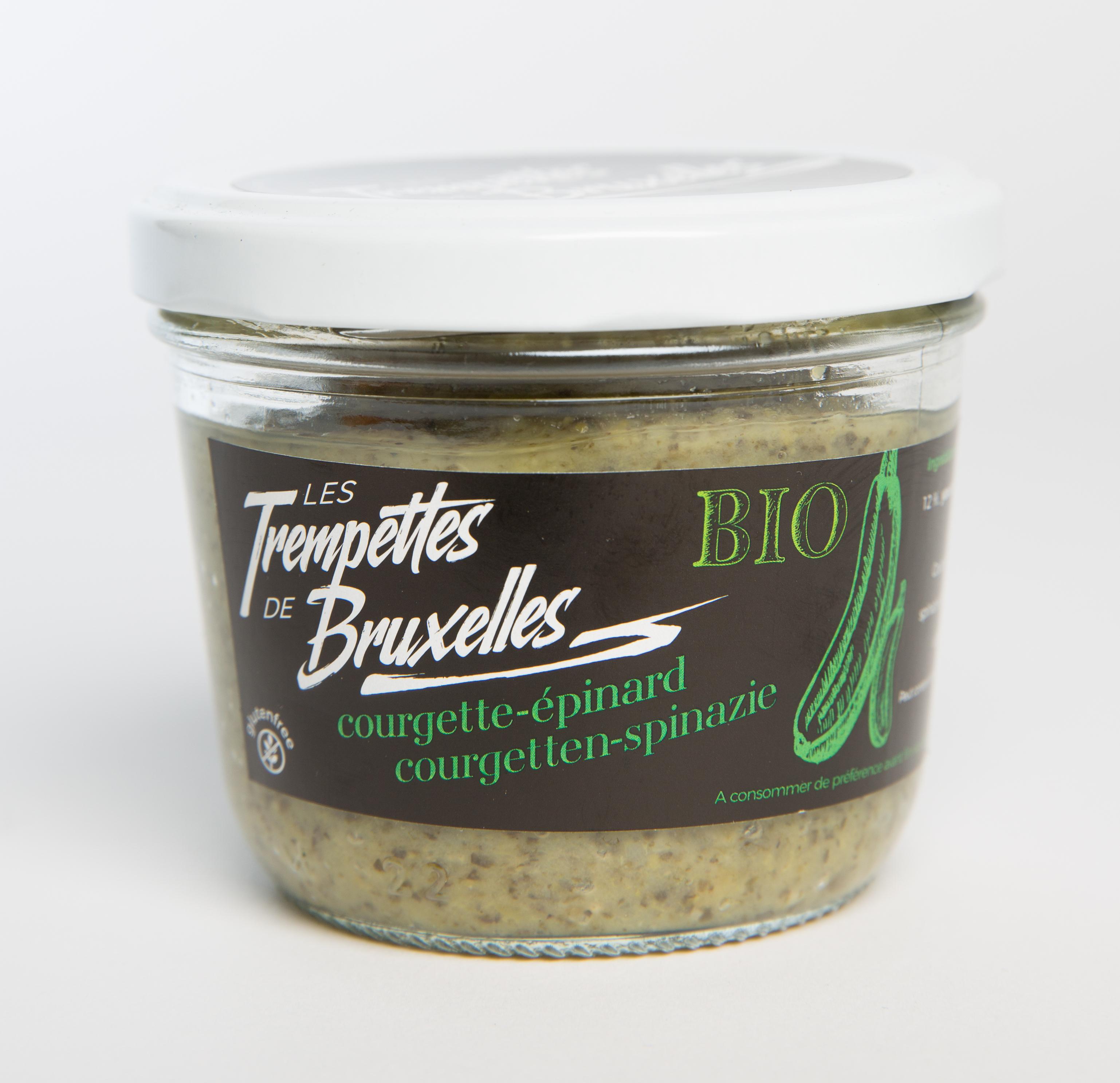 Trempettes saveur Courgette/Épinard BIO, Les Trempettes de Bruxelles (315 g)