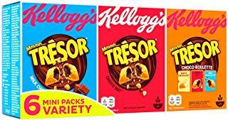 Variétés de céréales en mini paquet Trésor, Kellogg's (6 x 30 g)