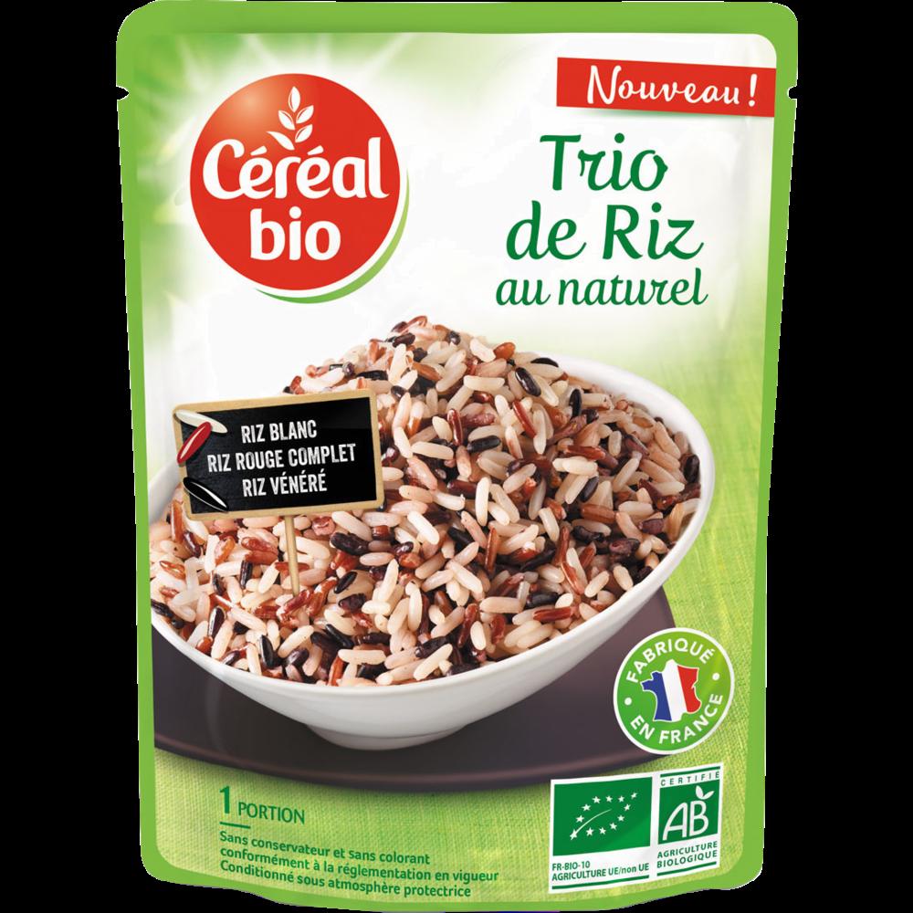Trio de riz au naturel BIO, Céréal Bio (220 g)