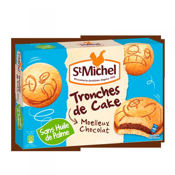 Tronche de cake au chocolat, St Michel (x6, 175 g)