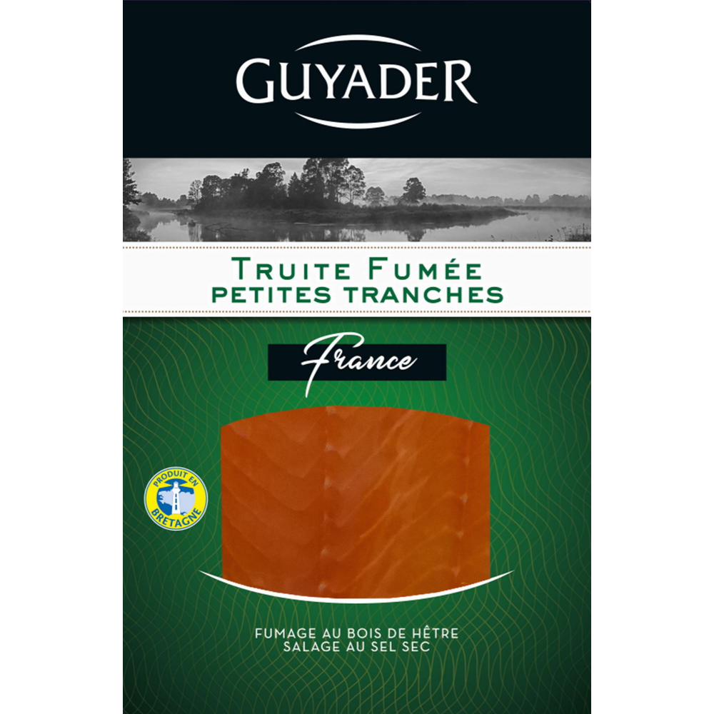 Truite fumée mer de Normandie, Guyader (100 g)