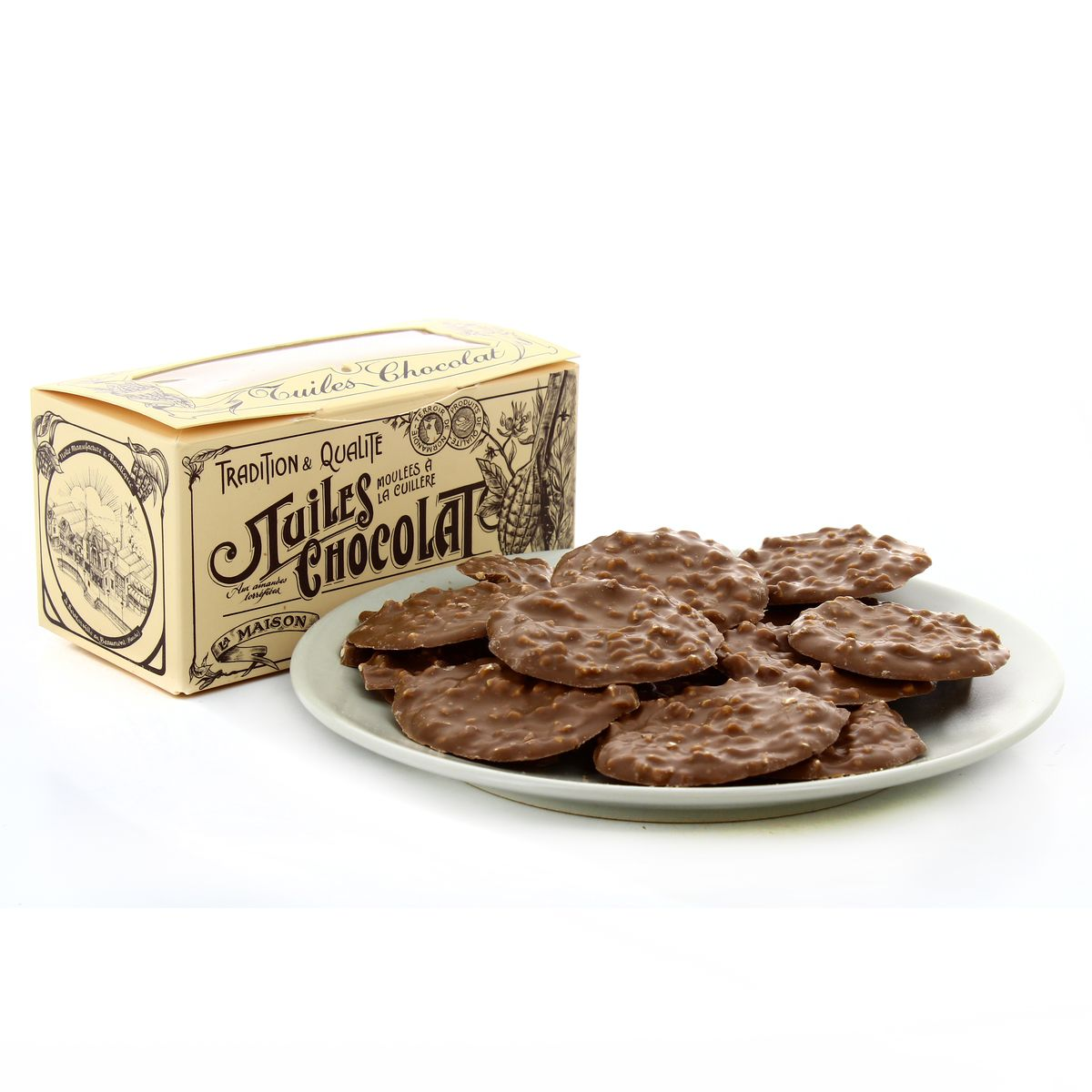 Ballotin de tuiles au chocolat au lait, La Maison du Biscuit (170 g) - DLUO 20/06