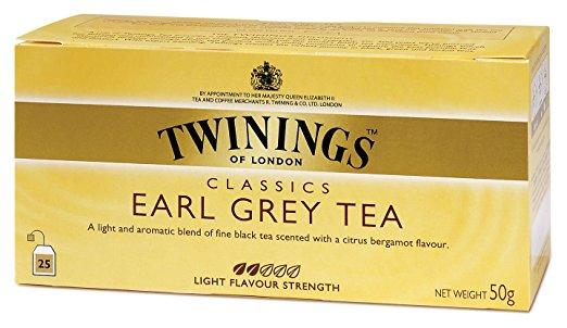 Thé Earl Grey, Twinings (25 sachets)