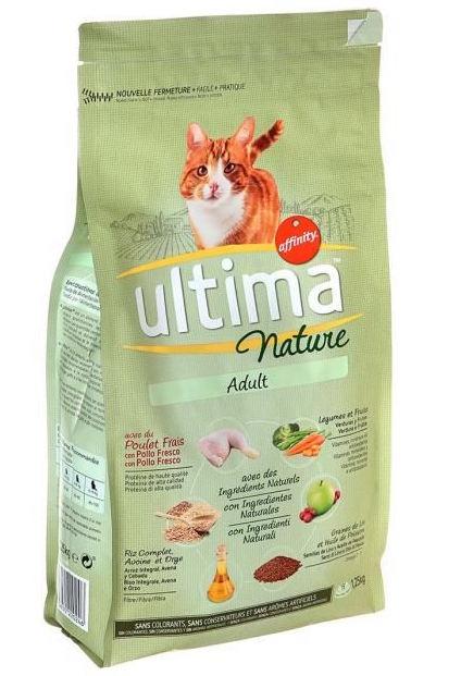 Croquettes pour chat adulte au poulet, Ultima (400 g)