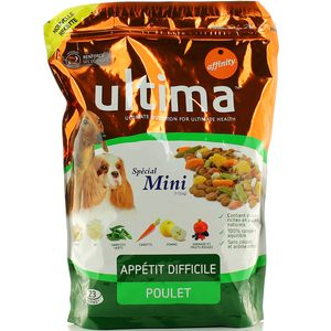 Croquettes pour mini chiens au poulet, Ultima Affinity (1,5 kg)
