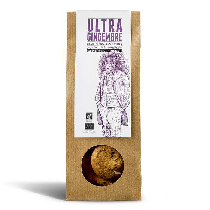 Biscuit croustillant Ultra Gingembre, La pierre qui tourne (140 g)
