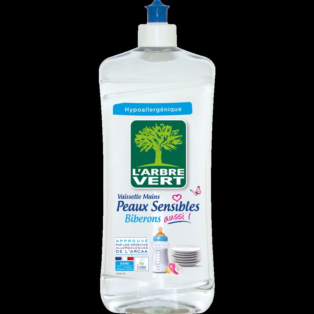Liquide vaisselle main peaux sensibles, L'arbre Vert (750 ml)