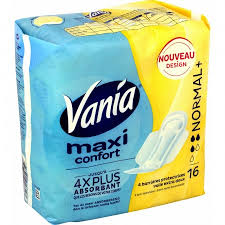 Serviettes Maxi Confort normal +, Vania (x 16)