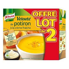 Velouté potiron, Knorr LOT DE 2 (2 x 50 cl)