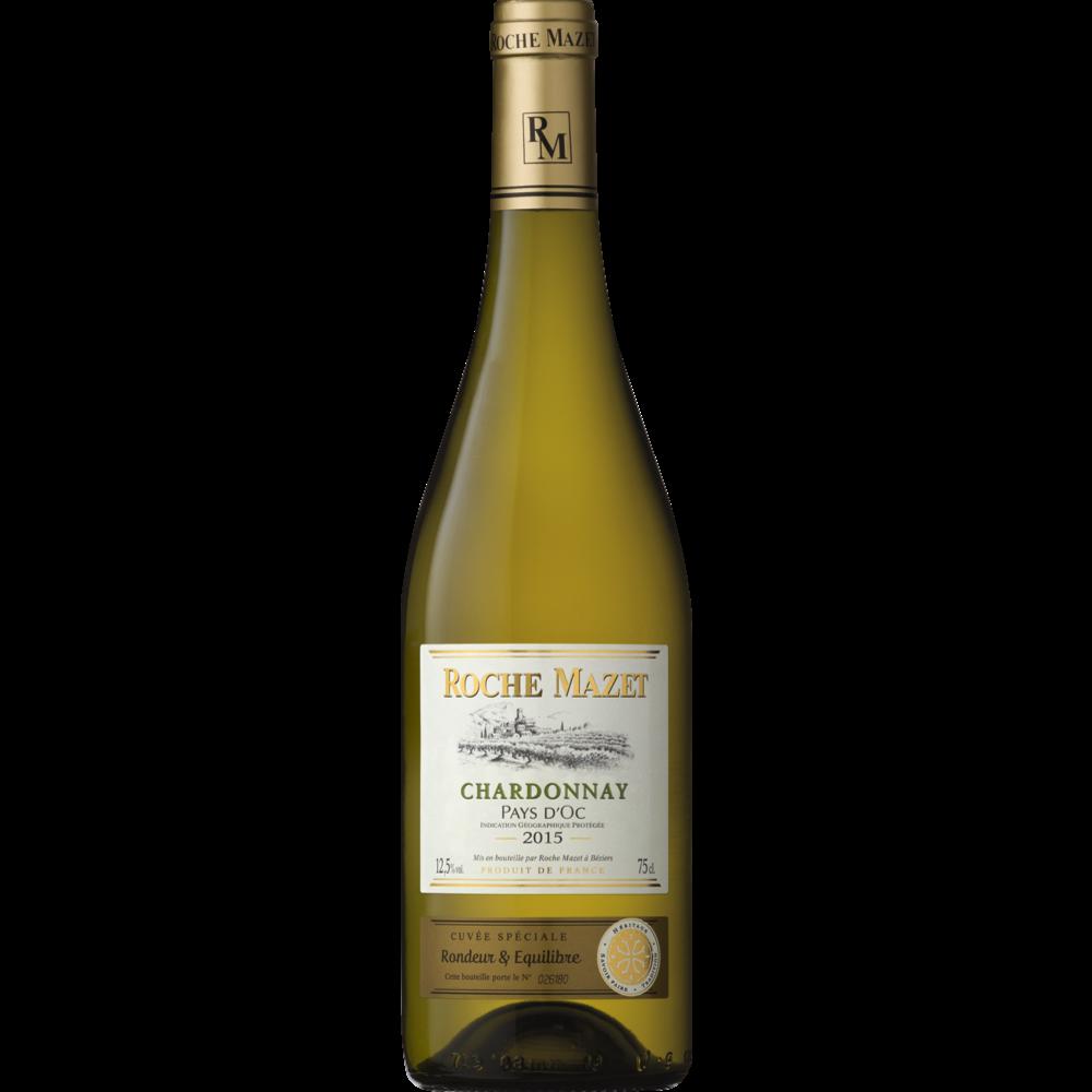 Vin blanc IGP Pays d'Oc Chardonnay, Roche Mazet (75 cl)