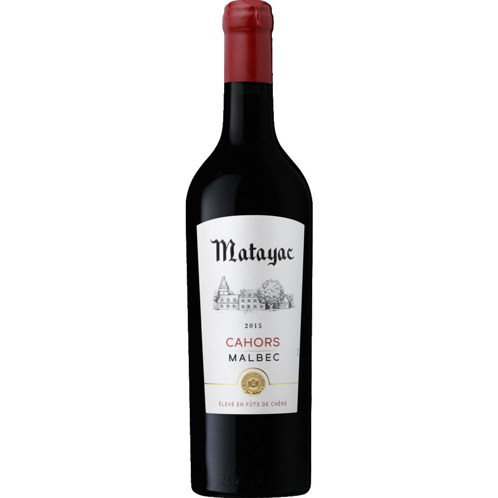Cahors AOP Malbec, Matayac, élevé en fût de chêne, 2016 (75 cl)