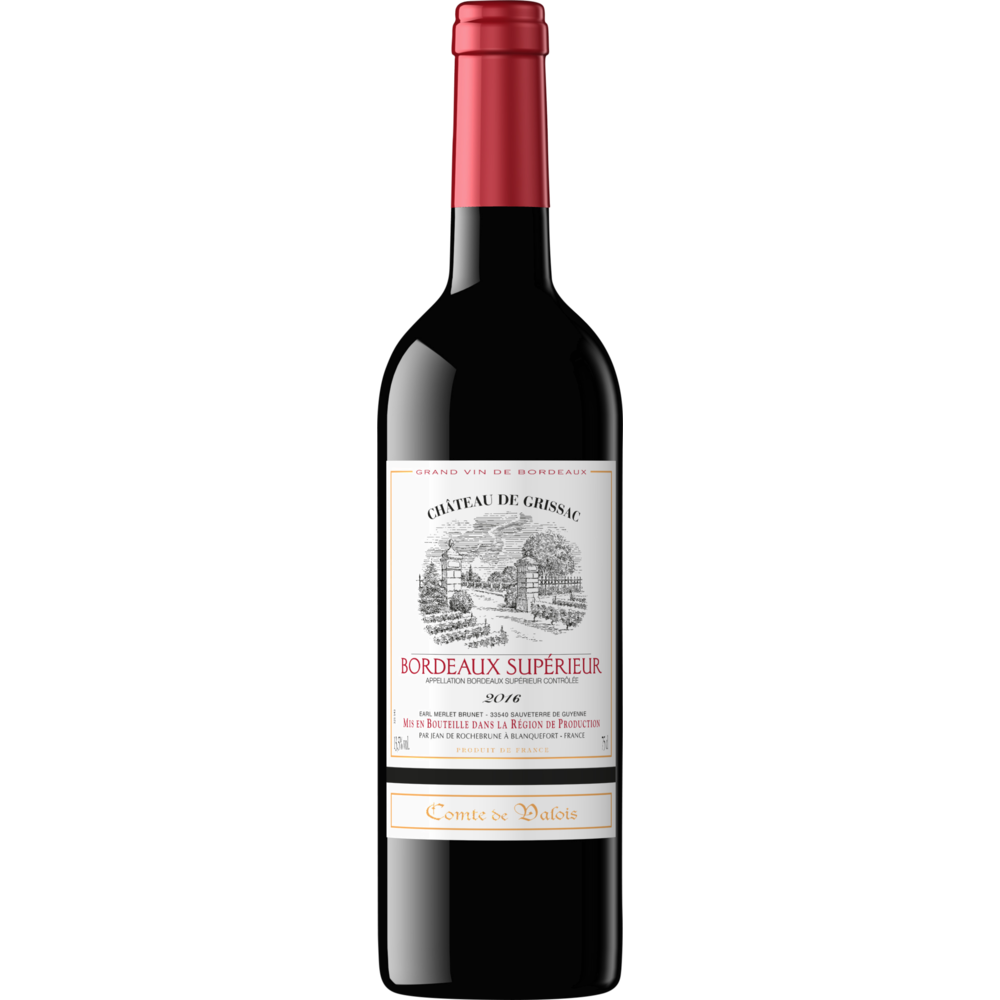 Bordeaux supérieur AOC Comte de Valois 2018 (75 cl)