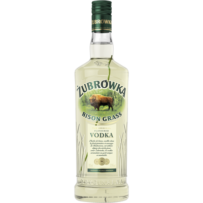 Vodka Zubrowka à l'herbe de Bison 37,5° (70 cl)