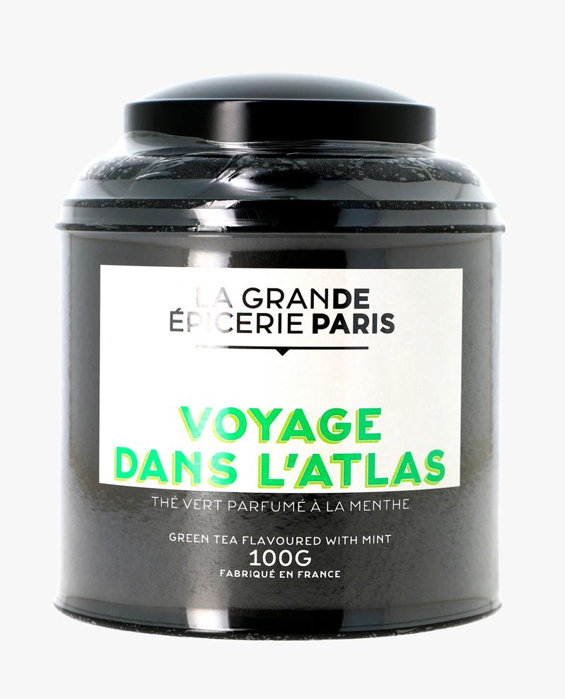 Voyage dans l'Atlas, thé vert à la menthe, La Grande Epicerie de Paris (100 g)