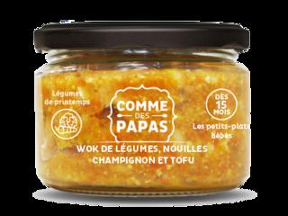 Wok de légumes, nouilles et tofu BIO - 15 mois, Comme des Papas (230 g)