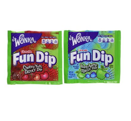 Sucette et poudre acidulée, Wonka Fun Dip (14 g)