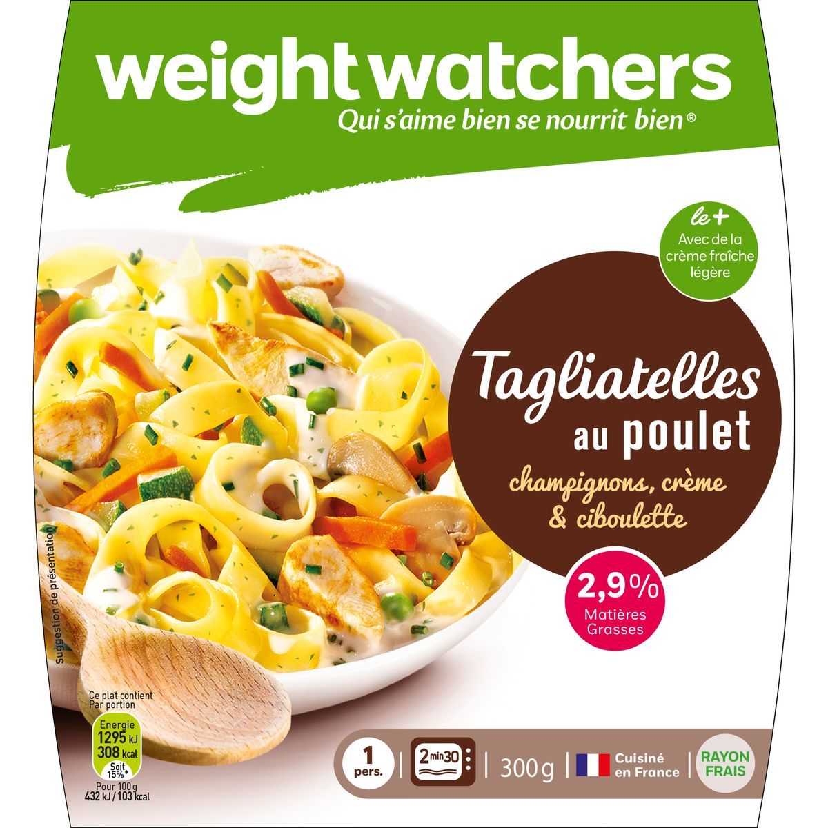 Tagliatelles poulet/champignons, Weight Watcher (300 g)