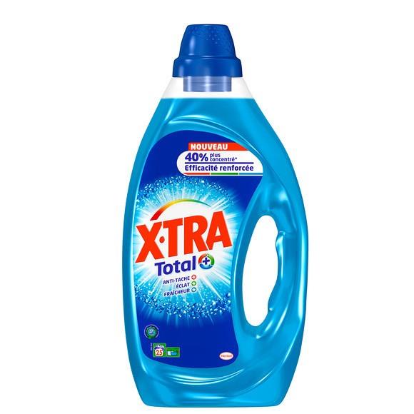 Lessive liquide anti-tâche éclat fraîcheur,  X'tra Total (1.25 L)
