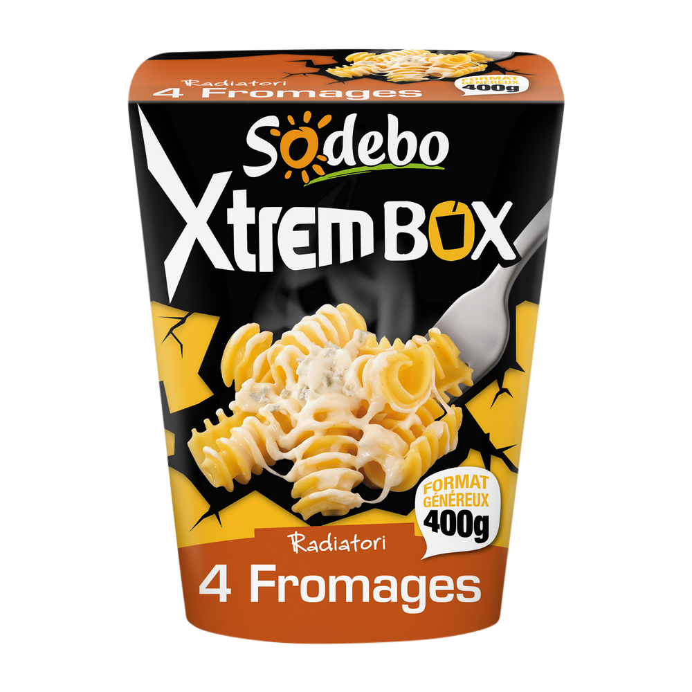 Xtrem box radiatori 4 fromages, Sodebo (400 g)