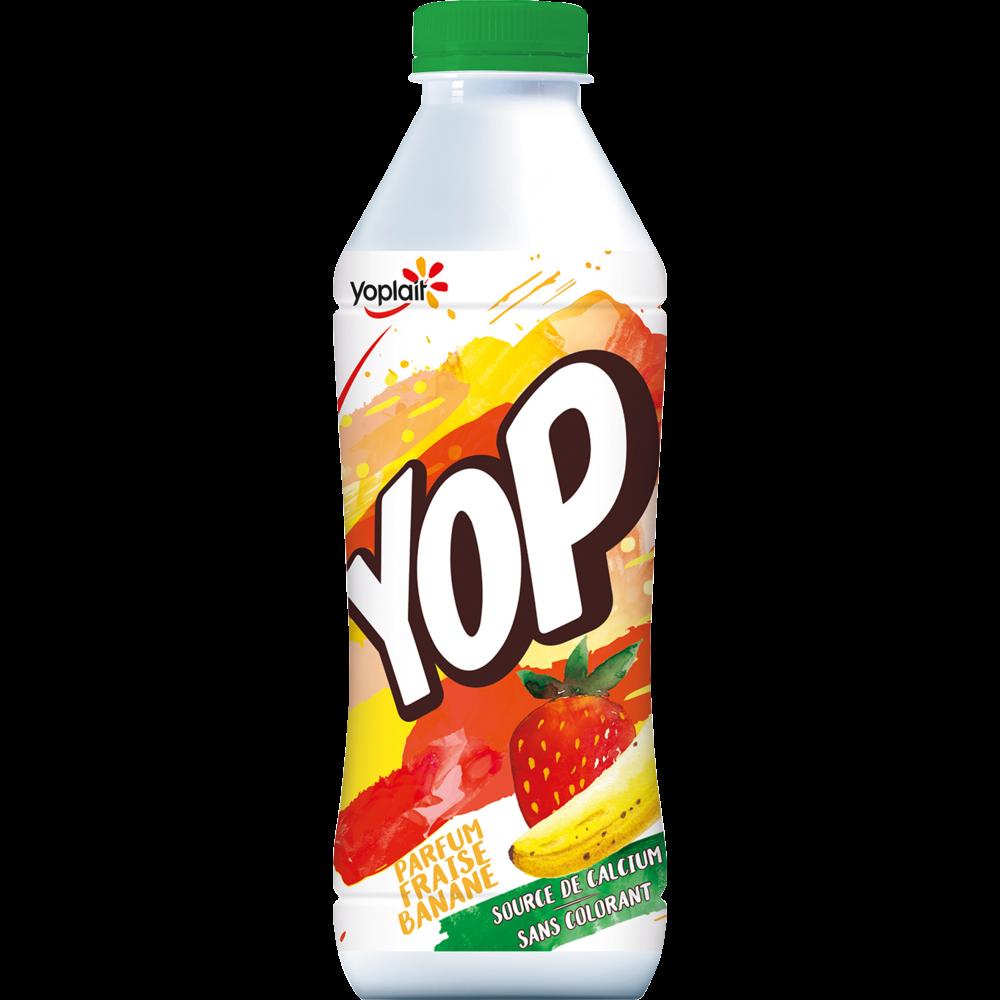 Yaourt à boire fraise/banane, Yop (825 g)