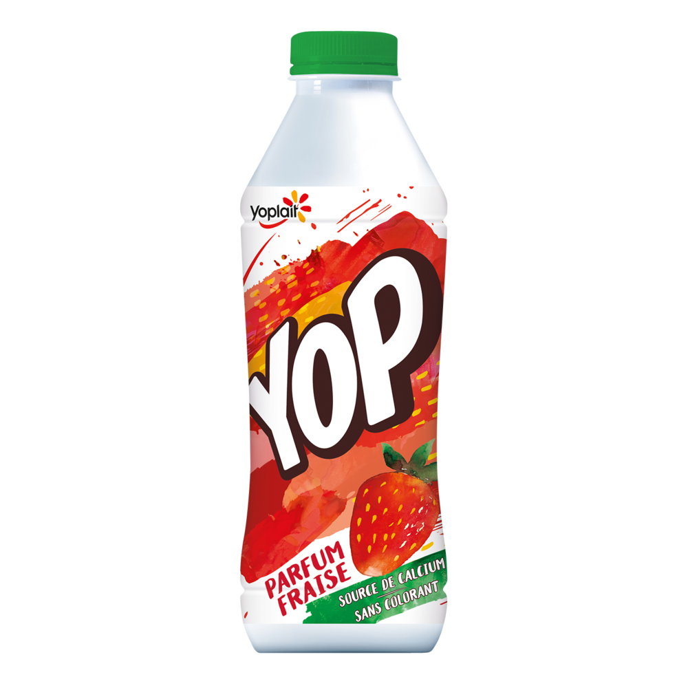 Yaourt à boire fraise, Yop (825 g)