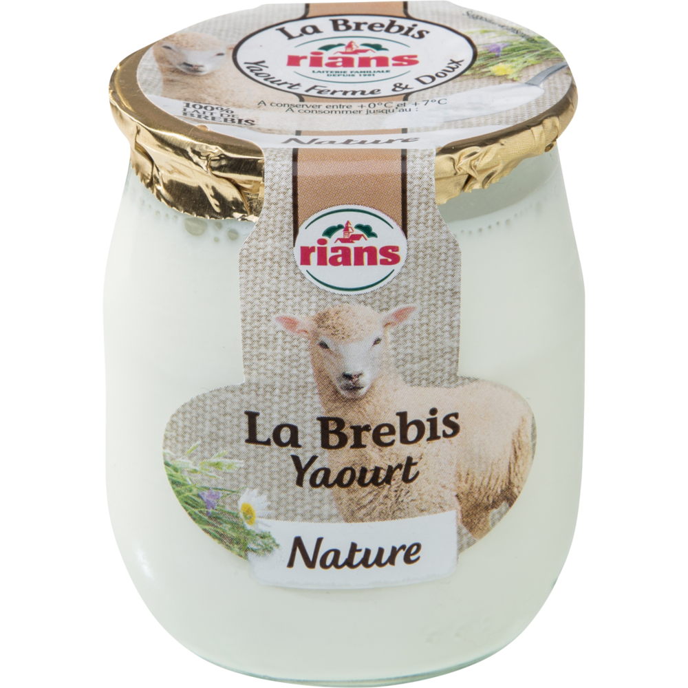 Yaourt au lait de brebis, Rians (115 g)