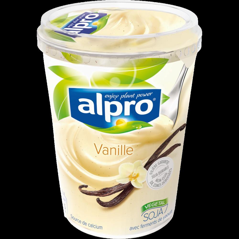 Yaourt au soja parfum vanille, Alpro (500 g)
