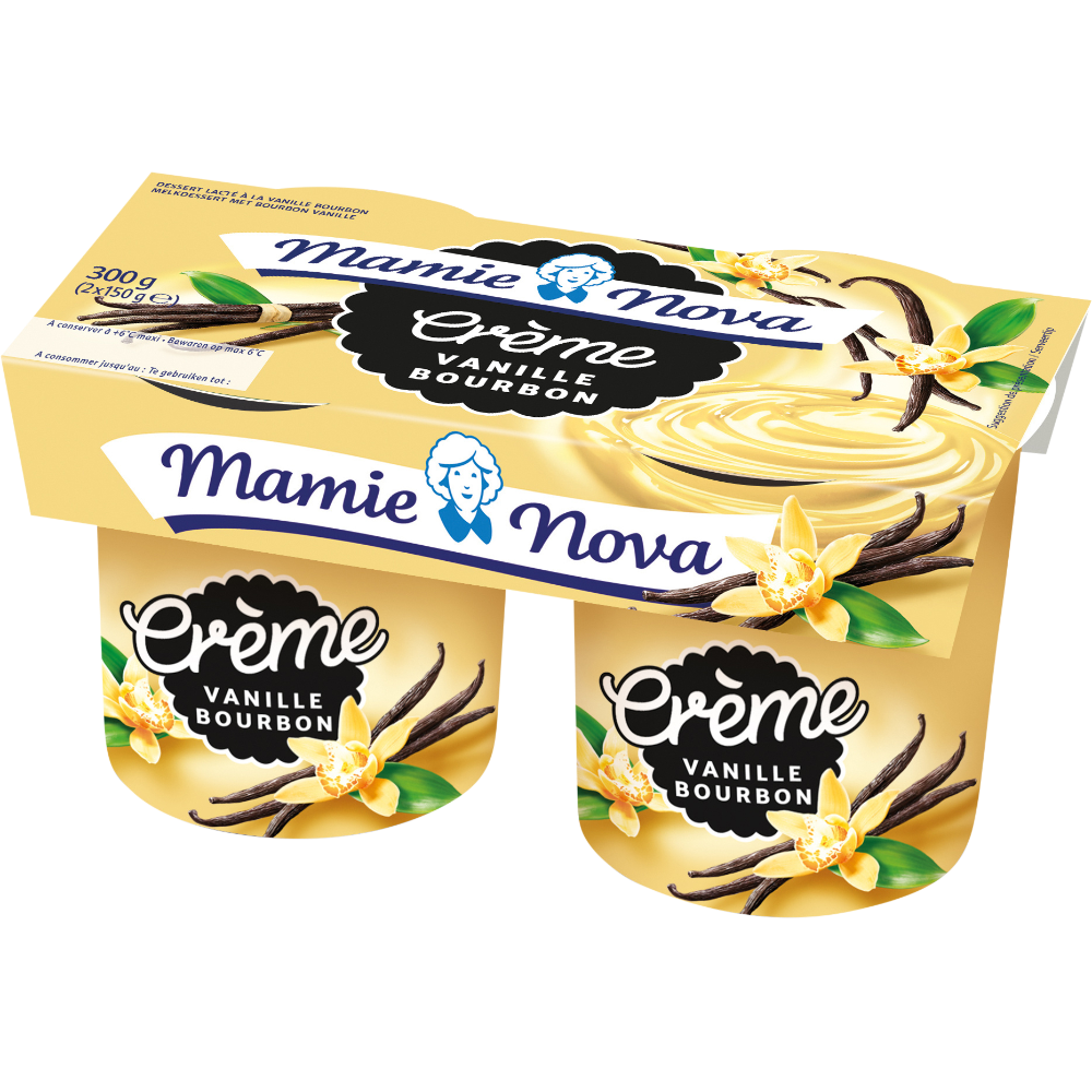 Yaourt Gourmand à la vanille, Mamie Nova (2 x 150 g)