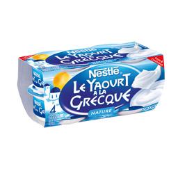 Yaourt nature à la Grecque, Nestlé (4 x 150 g)